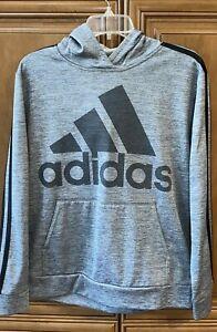 "EC boys LARGE 14/16 ADIDAS gray 25"" L  jacket hoodie chest 40"" sleeve 23"" FAST"