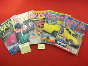 5 VINTAGE COLLECTIBLE ISSUES OF DUNE BUGGIES & HOT VWs MAGAZINE 1999 VW BUG