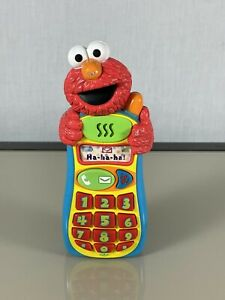 Sesame Street Mattel Elmo Knows Your Name Toy Cell Phone Fisher Price TESTED