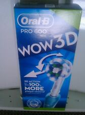 Braun Oral B Pro 600 WOW 3D. Electric Toothbrush.rechargeable