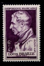Inventor Blind writing Louis Braille. 1w. France 1948