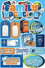 Reminisce FAMILY VACATION 3-D LAYERED STICKERS scrapbooking TRAVEL