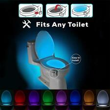 US Motion Activated LED Toilet Bowl Night Light Color Changing Seat Sensor Lamp