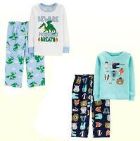 New Carter's Baby/Toddler Boys 2 Pc Pajama Cotton & Fleece Sleepwear Sets