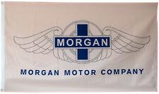 MORGAN MOTOR COMPANY WHITE FLAG BANNER 3X5FT AERO 8 PLUS 8 ROADSTER CLASSIC