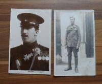 Old postcards - Military - Boer war & ww1 - 2 original photo's - Folkstone Kent?