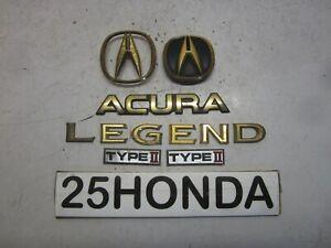 1994-1995 Acura Legend Factory Accessory Gold Package Emblem Set KA7 KA8 Rare