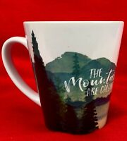Coffee Mug THE MOUNTAINS ARE CALLING Beautiful Scenic Design