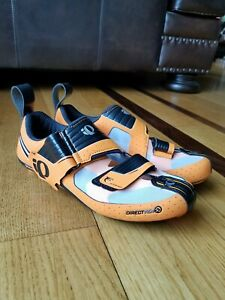 PEARL IZUMI Men's Orange Tri-Fly Octane Carbon Triathlon Cycling Shoes Size 40