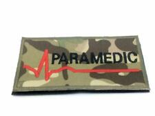 Paramedic Multicam Camo Embroidered Airsoft Paintball Patch