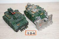 Warhammer 40k Space Marine Vindicator Tank & Razorback - Painted LOT 104
