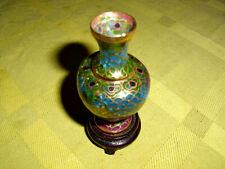 Jugendstil Glas Vase emailierte Miniatur Fensteremail Vase Originalstück !!
