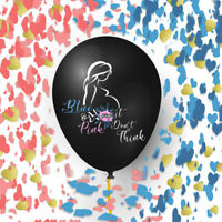"""EsyChoice 2 Jumbo 36"""" Balloon For Baby Gender Reveal Party with heart confetti"""