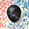 "EsyChoice 2 Jumbo 36"" Balloon For Baby Gender Reveal Party with heart confetti"
