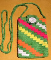 Tribally Hand Woven Wayuu Small Colorful Mochila Bag Colombia South America