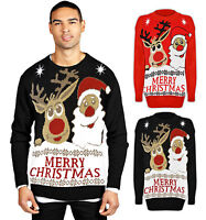Ladies Santa Father Xmas Reindeer Novelty Retro Cute Knitted Christmas Jumper