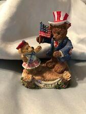 Boyds Bears Type Figurines July American Flag