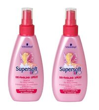 2X Schwarzkopf Kids Supersoft Girls Detangling Leave-In Spray 150ml