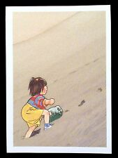 Akiko Hayashi Postcard Children's Book Illustration of Japanese Girl Aki 1989
