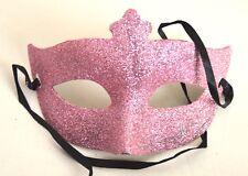 NEW Pink glitter Masquerade Mask Eye Gothic halloween fancy dress