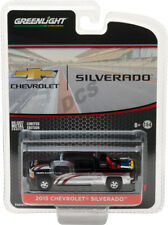 GREENLIGHT 2015 Chevrolet Silverado Black with Safety Equipment 1/64 car 29896