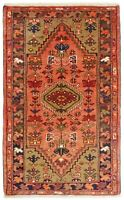 "Hand Knotted Tribal Coral Navy Wool Nomadic Oriental Rug 2'5"" x 4'"