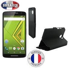 Etui Rabattable Noir Avec Ouverture Ecran pour Motorola Moto X Ecran 5.2 Pouces