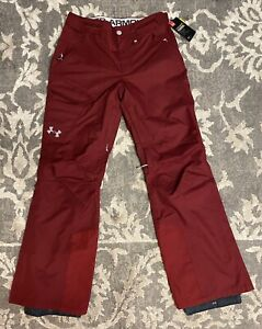 Under Armour Storm Chutes Snowboarding Ski Pants Men Sz Small Maroon Burgundy
