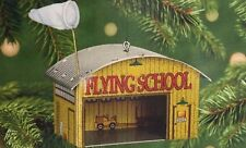2001 Flying School Airplane Hangar QX8172 Tin Hallmark Keepsake Ornament
