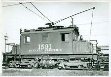 Vintage Pacific Electric #1591 car 5x7 b&w  photo