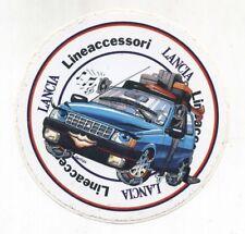 Adesivo LANCIA LINEACCESSORI 1986 Smog PROMO Fiat Auto Y10 sticker
