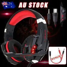 EACH 3.5mm G9000 Gaming Headset MIC LED Headphone for Mac Laptop PS4 Xbox One yw