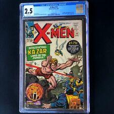 X-MEN #10 (1965) 💥 CGC 2.5 OW 💥 1st Silver Age App of KA-ZAR! Marvel Comic