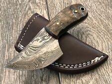 "ASH dh682 Damascus steel custom handmade hunting knife 5"""