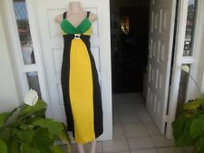 Sexy Dress Jamaica Color  Sleevelss Aunthentic  wear One Size 100% Cotton