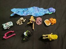 Lot of 7 Kinder Ferrero Toys Rare Collectable Barbie, Dragon, Wolf, Bear, Car