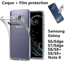 Coque Transparent+ Film protection Samsung S10/S9/Plus/S8/S7/Edge/S6/Note8/Note9