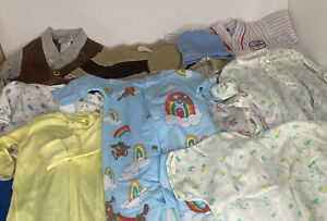 Vintage Boys Baby & Toddler Clothes 70's 80's Lot