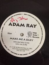 """a4 vinyl 12""""  white label double A side  ADAM RAY MAKE ME A BABY Extended labor"""