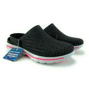 Skechers Foamies Women's Go Walk 5 Astonished Black White Clogs Sizes 9 - 11 M