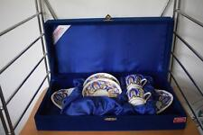 STUNNING GURAL TURKISH PORCELAIN X2 EXPRESSO COFFEE CUPS & SERVING PLATE