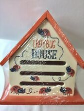 Ladybug House � Brand New Factory Sealed. 6� X 5�. Ready To Hang ! New !