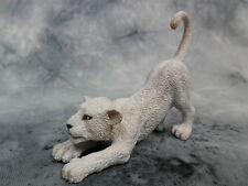CollectA NIP * White Lion Cub - Stretching * #88550 Model Toy Figurine Replica