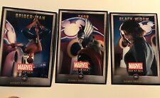 Marvel Day at Sea Disney Cruise Line Set of 3 Cards Spiderman Thor Black Widow