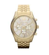 NEW Michael Kors MK8281 Lexington Gold-Tone Chronograph Men's Watch GENT