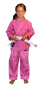 Fuji Kids Childrens All Around Brazilian Jiu Jitsu Gi Jiu-Jitsu BJJ - Pink