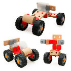 Wooden Four-wheel Drive 4WD Racing Car   Kits Kids Toy Education