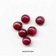NATURAL 4 MM CABOCHON ROUND PIGEON BLOOD INDIAN RUBY FOR ONE