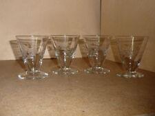 Vintage 4 verres à vin - Verrerie Doyen - modèle Lido Hauteur 8 cm