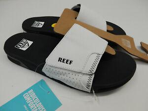 Reef Mens Fanning Slide Grey White 10